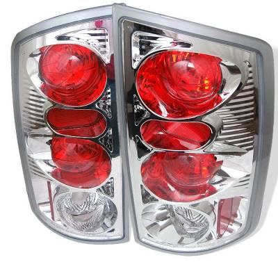 Spyder - Dodge Ram Spyder Euro Style Taillights - Chrome - 111-DRAM02-C