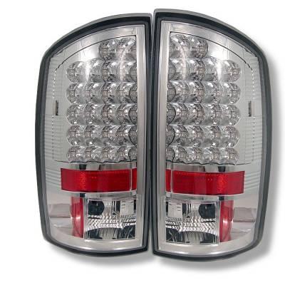 Spyder - Dodge Ram Spyder LED Taillights - Chrome - 111-DRAM02-LED-C