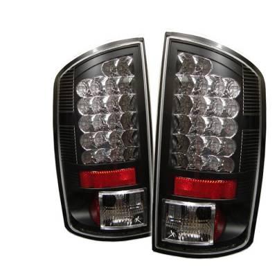 Spyder - Dodge Ram Spyder LED Taillights - Black - 111-DRAM06-LED-BK