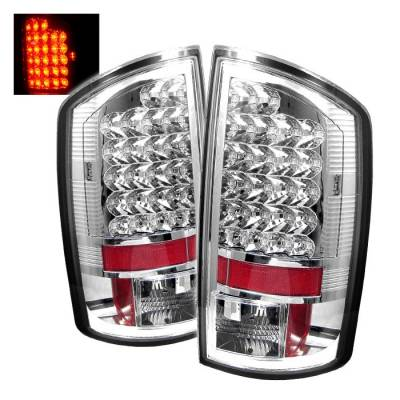 Spyder - Dodge Ram Spyder LED Taillights - Chrome - 111-DRAM06-LED-C