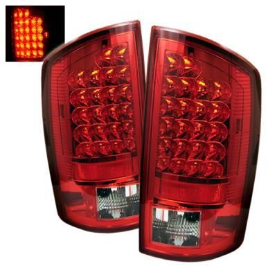 Spyder - Dodge Ram Spyder LED Taillights - Red Clear - 111-DRAM06-LED-RC