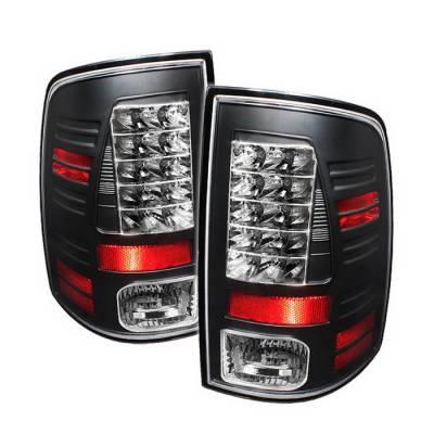 Spyder Auto - Dodge Ram Spyder LED Taillights - Black - 111-DRAM06-LED-SM