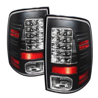 Spyder - Dodge Ram Spyder LED Taillights - Black - 111-DRAM09-LED-BK