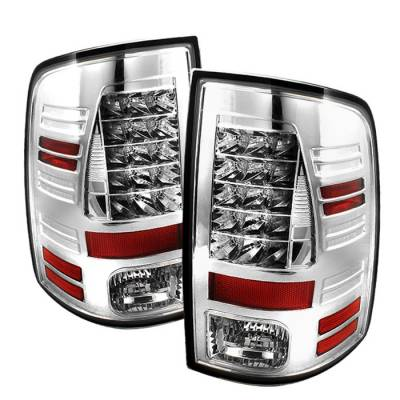 Spyder - Dodge Ram Spyder LED Taillights - Chrome - 111-DRAM09-LED-C