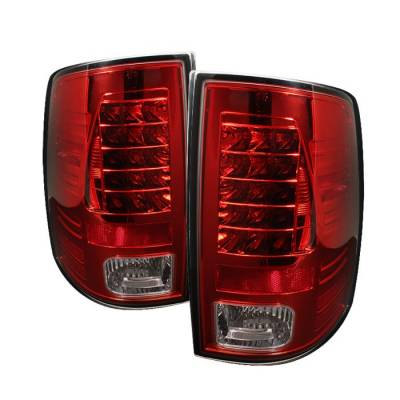 Spyder - Dodge Ram Spyder LED Taillights - Red Clear - 111-DRAM09-LED-RC