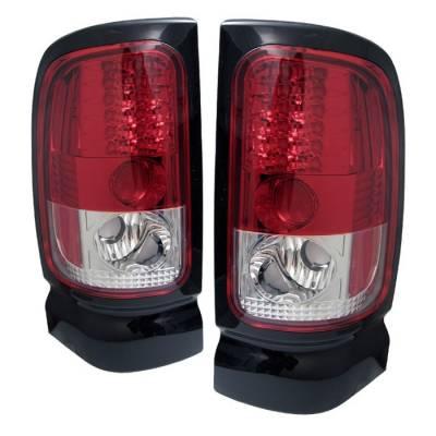 Spyder - Dodge Ram Spyder LED Taillights - Red Clear - 111-DRAM94-LED-RC