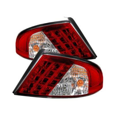 Spyder - Dodge Stratus 4DR Spyder LED Taillights - Red Clear - 111-DSTR01-LED-RC