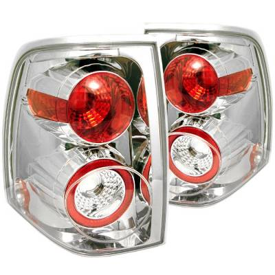 Spyder - Ford Expedition Spyder Euro Style Taillights - Chrome - 111-FE03-C