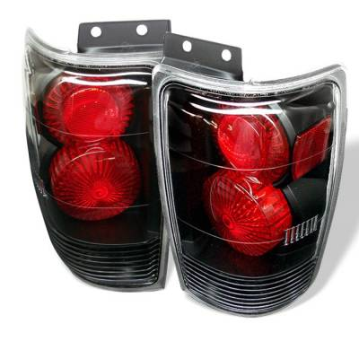 Spyder - Ford Expedition Spyder Euro Style Taillights - Black - 111-FE97-BK