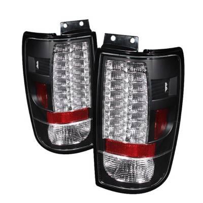 Spyder - Ford Expedition Spyder Version 2 LED Taillights - Black - 111-FE97-LED-G2-BK