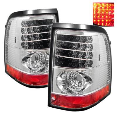Spyder - Ford Explorer Spyder LED Taillights - Chrome - 111-FEXP02-LED-C