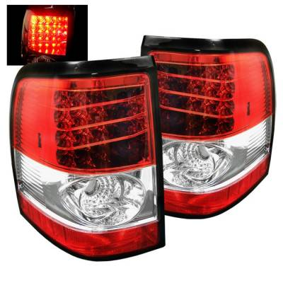 Spyder - Ford Explorer Spyder LED Taillights - Red Clear - 111-FEXP02-LED-RC