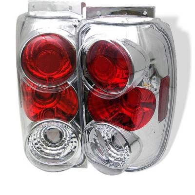 Spyder - Ford Explorer Spyder Euro Style Taillights - Chrome - 111-FEXP95-C