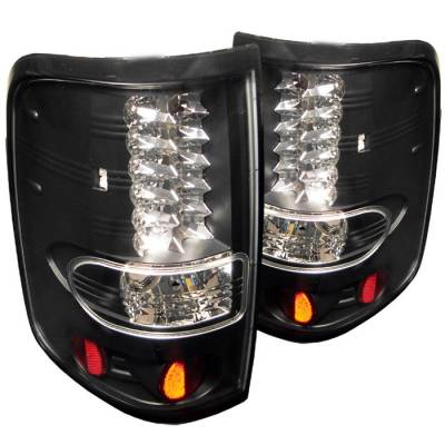 Spyder - Ford F150 Spyder LED Taillights - Black - 111-FF15004-LED-BK