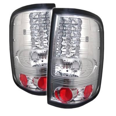 Spyder - Ford F150 Spyder LED Taillights - Chrome - 111-FF15004-LED-C