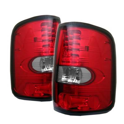 Spyder - Ford F150 Spyder LED Taillights - Red Clear - 111-FF15004-LED-RC