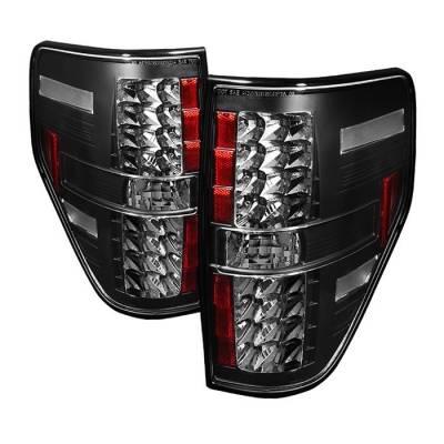 Spyder - Ford F150 Spyder LED Taillights - Black - 111-FF15009-LED-BK