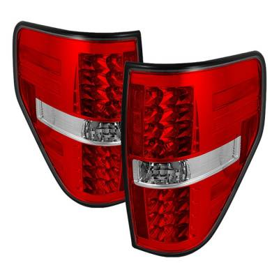 Spyder - Ford F150 Spyder LED Taillights - Red Clear - 111-FF15009-LED-RC