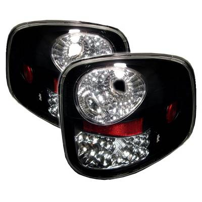 Spyder - Ford F150 Spyder LED Taillights - Black - 111-FF15097FS-LED-BK