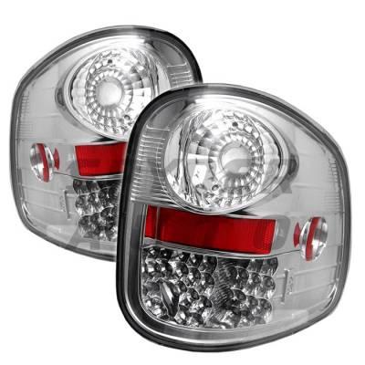 Spyder - Ford F150 Spyder LED Taillights - Chrome - 111-FF15097FS-LED-C