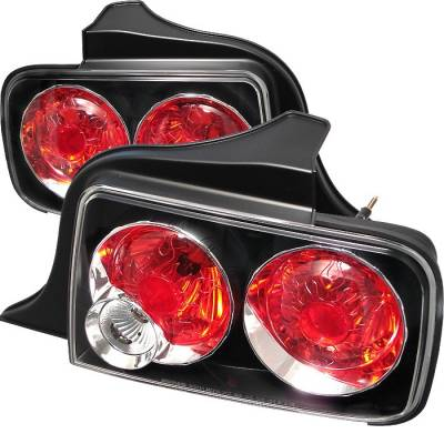Spyder - Ford Mustang Spyder Euro Style Taillights - Black - 111-FM05-BK