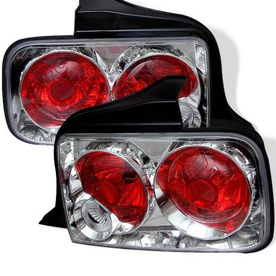 Spyder - Ford Mustang Spyder Euro Style Taillights - Chrome - 111-FM05-C