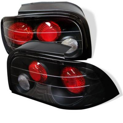 Spyder - Ford Mustang Spyder Euro Style Taillights - Black - 111-FM94-BK