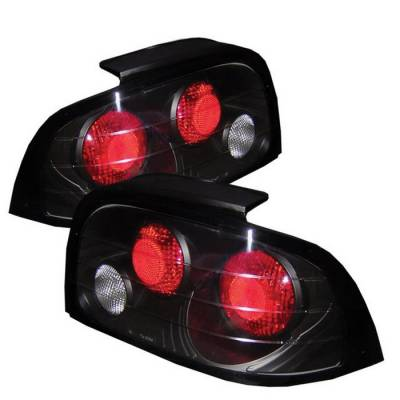 Spyder - Ford Mustang Spyder Euro Style Taillights - Black - 111-FM96-BK