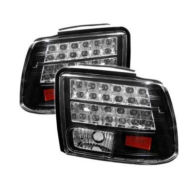 Spyder - Ford Mustang Spyder LED Taillights - Black - 111-FM99-LED-BK