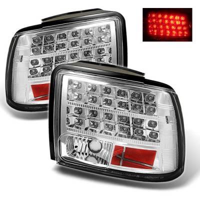 Spyder - Ford Mustang Spyder LED Taillights - Chrome - 111-FM99-LED-C