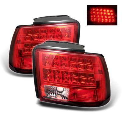 Spyder - Ford Mustang Spyder LED Taillights - Red Clear - 111-FM99-LED-RC
