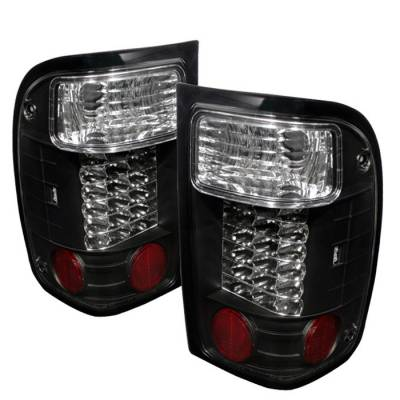 Spyder - Ford Ranger Spyder LED Taillights - Black - 111-FR93-LED-BK