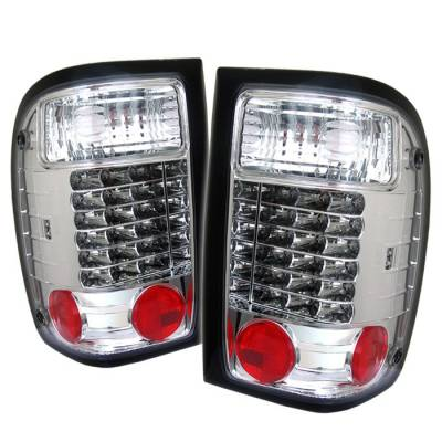 Spyder - Ford Ranger Spyder LED Taillights - Chrome - 111-FR93-LED-C