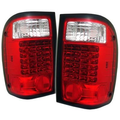 Spyder - Ford Ranger Spyder LED Taillights - Red Clear - 111-FR93-LED-RC
