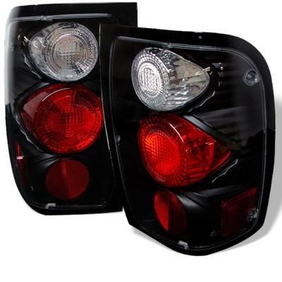 Spyder - Ford Ranger Spyder Euro Style Taillights - Black - 111-FR98-BK