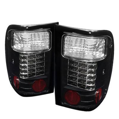 Spyder - Ford Ranger Spyder LED Taillights - Black - 111-FR98-LED-BK