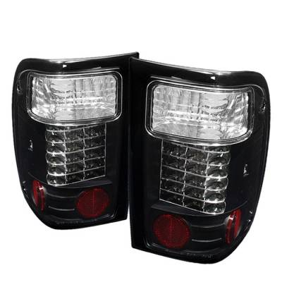 Spyder Auto - Ford Ranger Spyder LED Taillights - Black - 111-FR98-LED-C