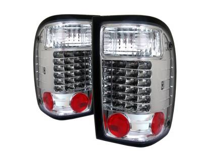 Spyder Auto - Ford Ranger Spyder LED Taillights - Chrome - 111-FR98-LED-RC