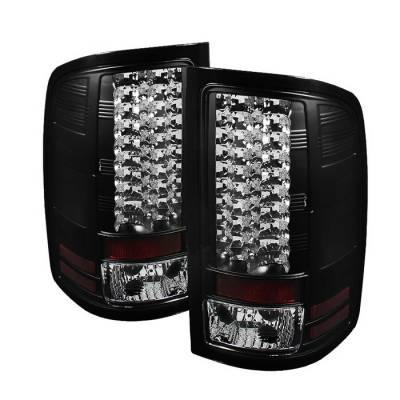 Spyder Auto - GMC Sierra Spyder LED Taillights - Black - 111-GS07-LED-BSM