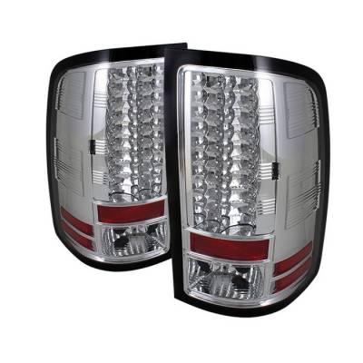 Spyder - GMC Sierra Spyder LED Taillights - Chrome - 111-GS07-LED-C
