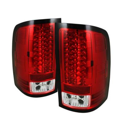 Spyder - GMC Sierra Spyder LED Taillights - Red Clear - 111-GS07-LED-RC