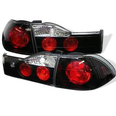 Spyder - Honda Accord 4DR Spyder Euro Style Taillights - Black - 111-HA01-4D-BK