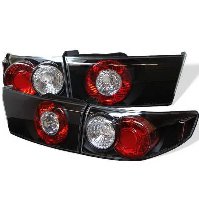 Spyder Auto - Honda Accord 4DR Spyder Altezza Taillights - Black - 111-HA03-4D-C