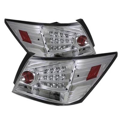 Spyder - Honda Accord 4DR Spyder LED Taillights - Chrome - 111-HA08-4D-LED-C