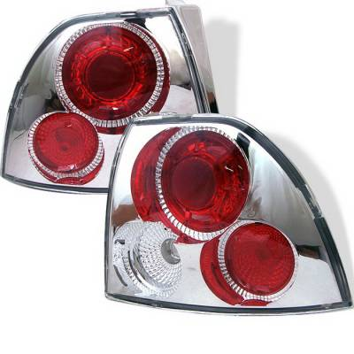 Spyder Auto - Honda Accord Spyder Altezza Taillights - Chrome - 111-HA94-LED-BK