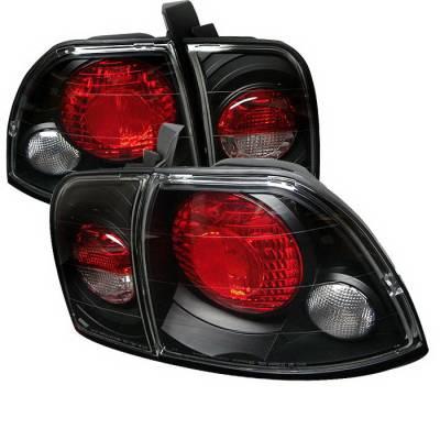 Spyder Auto - Honda Accord Spyder Altezza Taillights - Black - 111-HA96-C