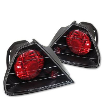Spyder - Honda Accord 2DR Spyder Euro Style Taillights - Black - 111-HA98-2D-BK