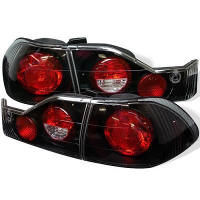 Spyder - Honda Accord 4DR Spyder Euro Style Taillights - Black - 111-HA98-BK