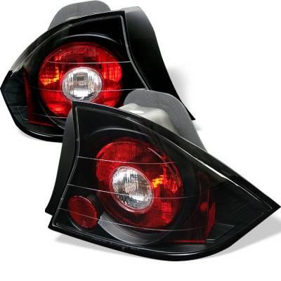 Spyder - Honda Civic 2DR Spyder Euro Style Taillights - Black - 111-HC01-2D-BK