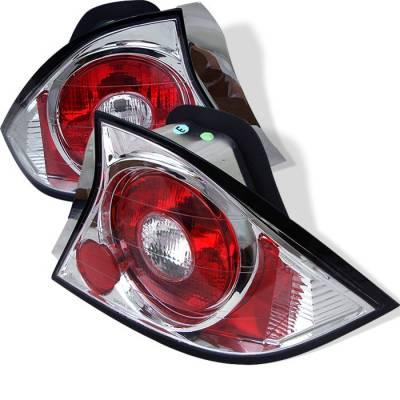 Spyder - Honda Civic 2DR Spyder Euro Style Taillights - Chrome - 111-HC01-2D-C